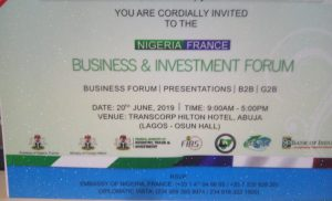 Nigeria France Business & Investment Forum @ Transcorp Hilton Hotel, Abuja