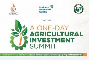 One-Day Agricultural Investment Summit @ Ladi Kwali Hall, Sheraton Hotel